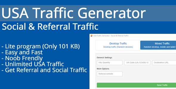 USA Traffic Generator - Social & Referral Traffic - CodeCanyon Item for Sale