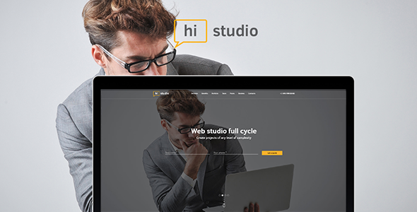 HiStudio | Creative Agency/Web Studio One Page Site Template