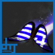 Greece Flag Butterfly Dynamic Flying Particle Tail V2