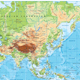 Detailed Physical Map of Asia