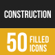 Construction Filled Low Poly B/G Icons