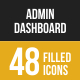 Admin Dashboard Filled Low Poly B/G Icons