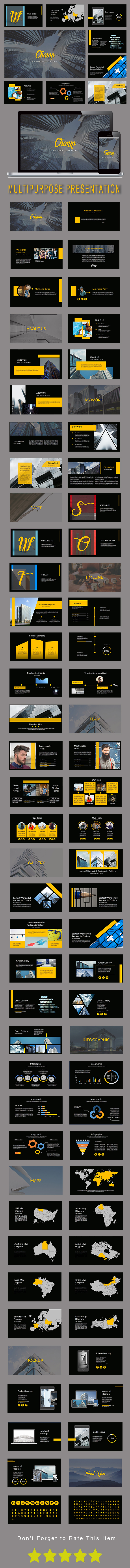 Champ Multipurpose Powerpoint Template (PowerPoint Templates)
