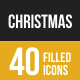 Christmas Filled Low Poly B/G Icons