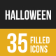 Halloween Filled Low Poly B/G Icons