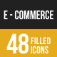 Ecommerce Filled Low Poly B/G Icons