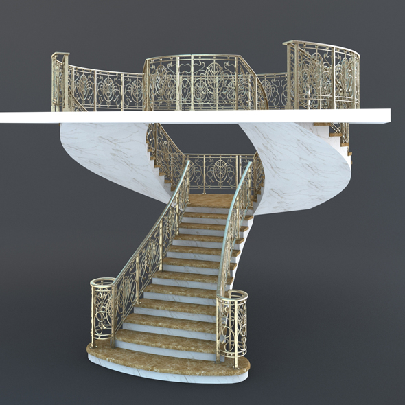 Classic Stairs - 3DOcean Item for Sale