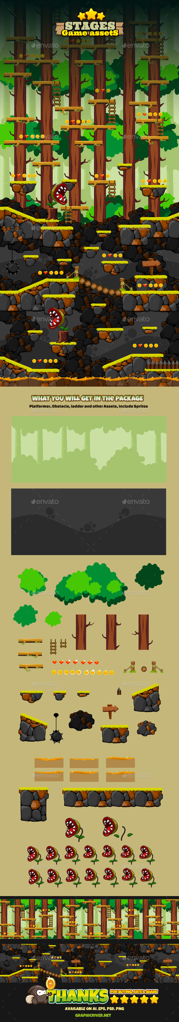 Game Stages v04 (Backgrounds)