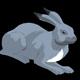 Gray Bunny Lying