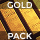 Stacked Bars Of Gold Bullion Pack