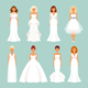 Set Of Brides In Wedding Dresses