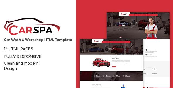 Download Carspa – Car Repair HTML5 Template
