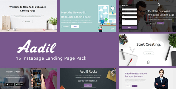 instapage Onepage Template - Aadil
