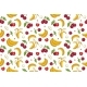 Seamless Pattern with Cherries and Bananas.