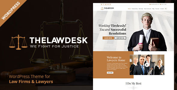 Download Law Desk - Lawyer Attorney WordPress Theme