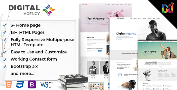 Responsive HTML Multipurpose Template - Digital Creative Agency