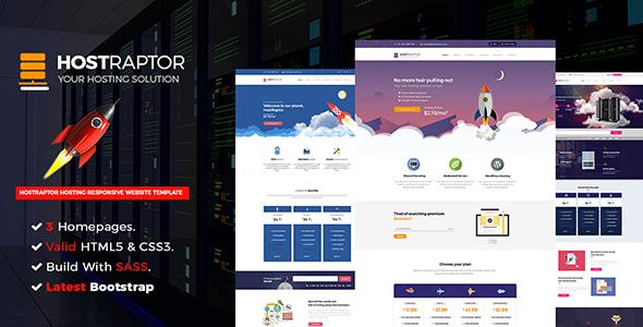 Hostraptor - Hosting Responsive Website Template