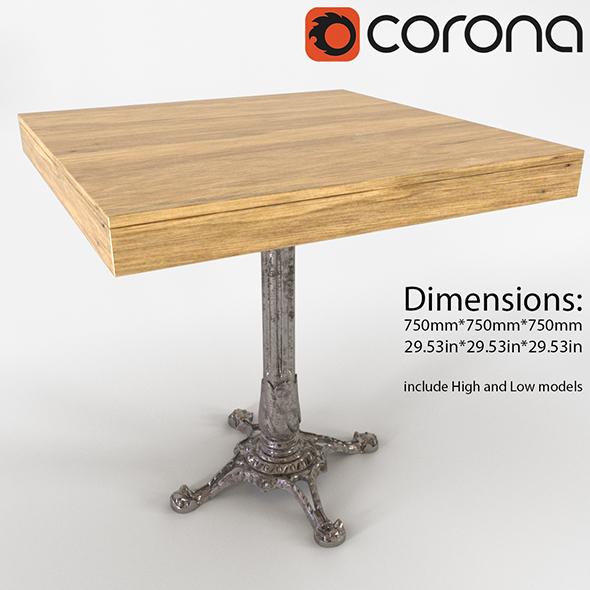 Restaurant Table - 3DOcean Item for Sale