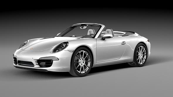 Porsche 911 Carrera S Cabriolet - 3DOcean Item for Sale