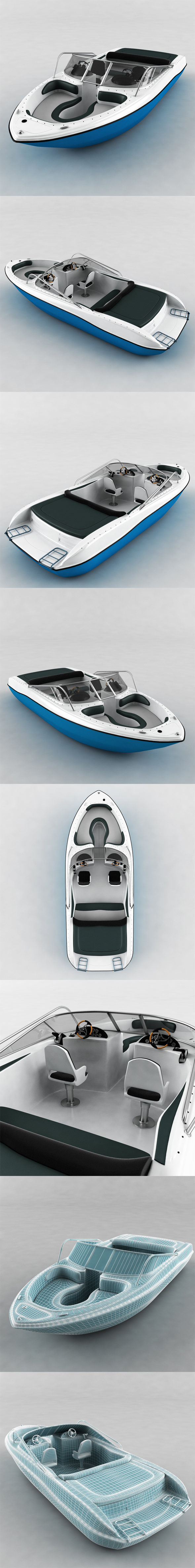 Motor Boat - 3DOcean Item for Sale