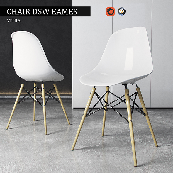 3DOcean Chair Vitra DSW Eames Plastic Side 19562845