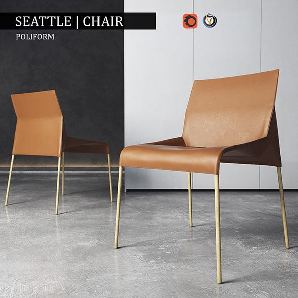 Сhair Poliform Seattle - 3DOcean Item for Sale