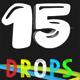 15 3D Drops Motion Elements Pack