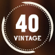 40 Vintage Labels Quality Logo Badges Bundle