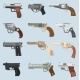 Weapons Vector Handguns Collection