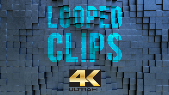 VideoHive 3D Cube Blocks Backgrounds 19563936