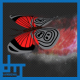 Red Dark Butterfly Dynamic Flying Particle Tail V1