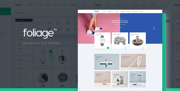 Pav Foliage - Advanced Opencart theme for Furniture