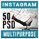 Multipurpose Instagram Templates - 50 Designs
