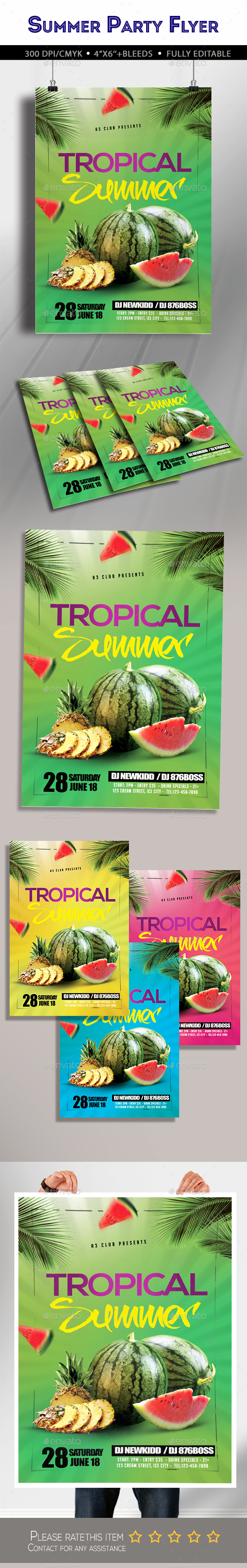 Tropical Summer Party Flyer