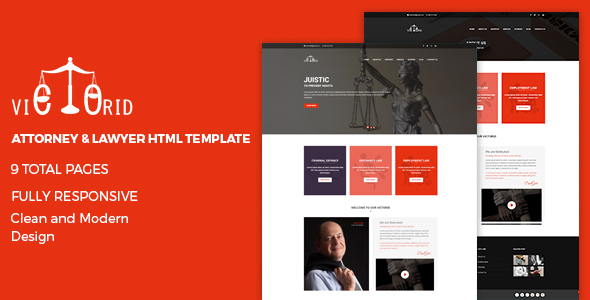 Victorid - Attorney & Lawyer HTML5 Template