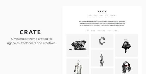 Download Crate - Minimalist WordPress Theme