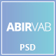 ABIRVAB - One Page Multipurpose PSD Template
