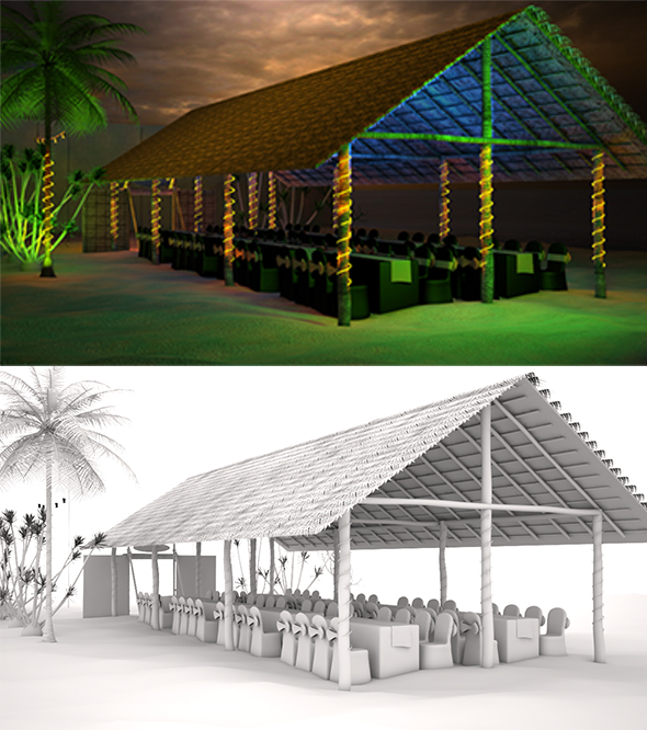 Tropical Beach Hut - 3DOcean Item for Sale