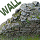 Old Mossy Stone Half Wall