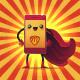 Cell Phone Superhero Mascot