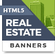 HTML5 Ads - Sleek Real Estate Banner Templates