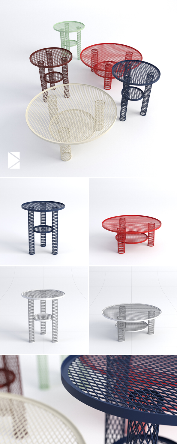 Moroso Net coffee tables - 3DOcean Item for Sale
