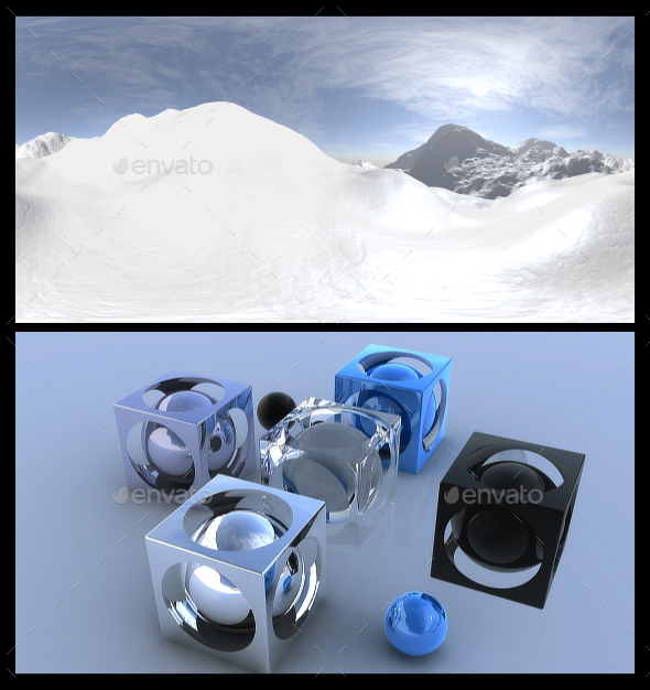 Snow 4 - HDRI - 3DOcean Item for Sale