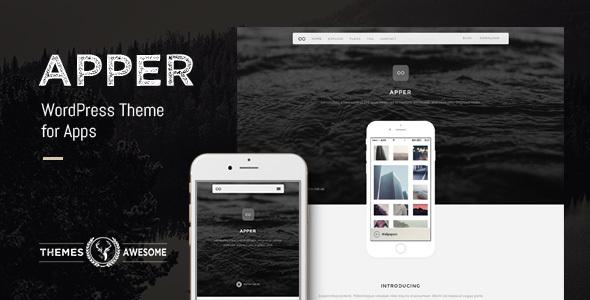 Фото Wordpress премиум шаблон  Apper - WordPress Theme for Apps — apper feature themeforest.  large preview