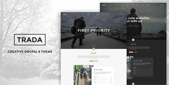 Trada - Creative Onepage Drupal 8 Template by gavias