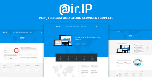 Airip -  VOIP, Telecom and Cloud Services Template