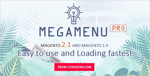 Codazon MEGA MENU Pro – Drag &amp Drop – For Magento 1 &amp Magento two.x – All in a single (Magento Extensions)