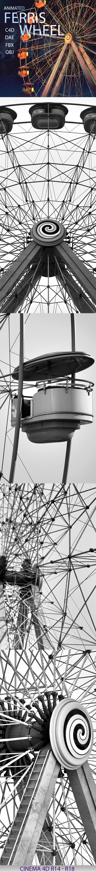 3DOcean Ferris Wheel Animated Model 19571675
