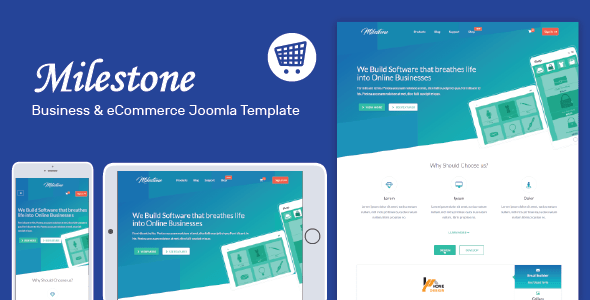 Milestone – Responsive Multi-objective Joomla Template (Corporate)