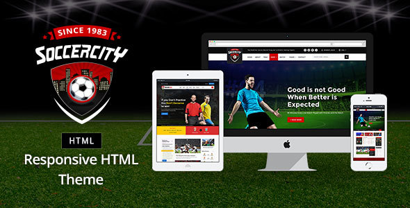 Image of Soccer Sports - Soccer & Sports HTML Template